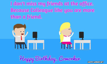 Birthday wishes for coworker quotes images happy wishes