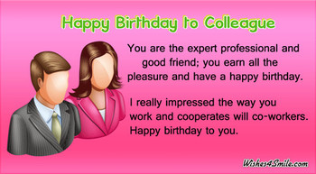 Happy birthday wishes for colleague wishessmile
