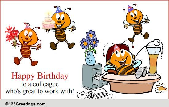 Birthday wish for a colleague free boss amp colleagues ec...