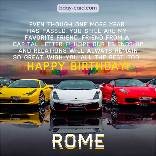 Birthday pics for Rome with Sports cars