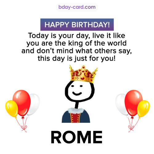 Happy Birthday Meme for Rome