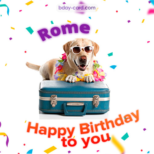 Funny Birthday pictures for Rome