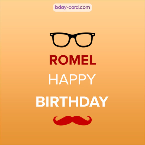 Happy Birthday photos for Romel with antennae