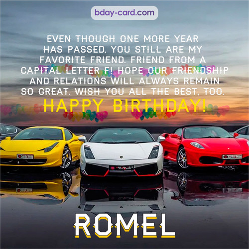 Birthday pics for Romel with Sports cars