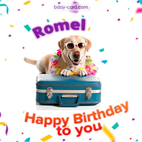 Funny Birthday pictures for Romel