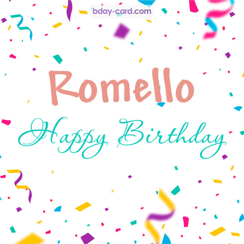 Greetings pics for Romello with sweets