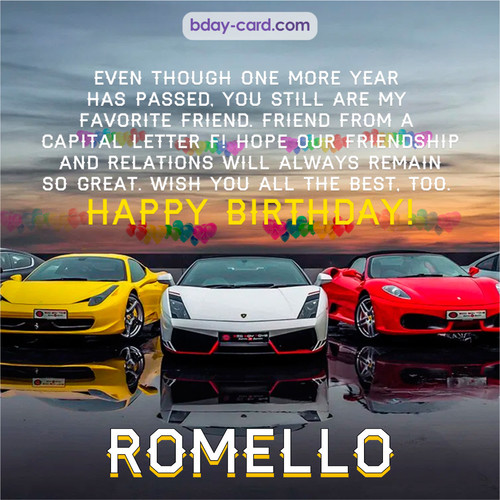 Birthday pics for Romello with Sports cars