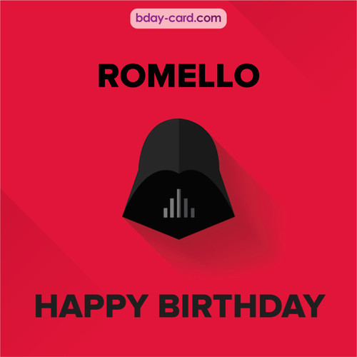 Happy Birthday pictures for Romello with Darth Vader