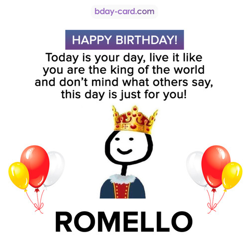Happy Birthday Meme for Romello