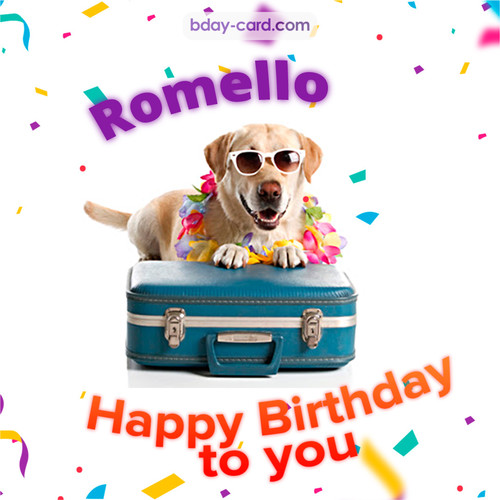 Funny Birthday pictures for Romello