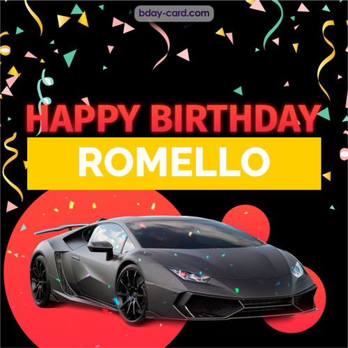 Bday pictures for Romello with Lamborghini