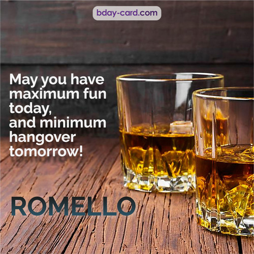 Greetings pics for Romello with Whiskey