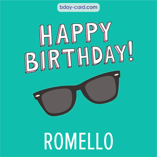 Happy Birthday pic for Romello with glasses