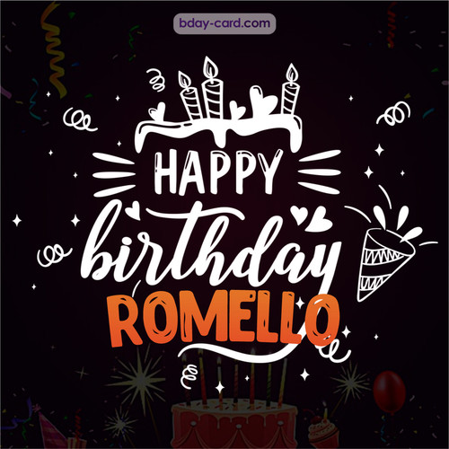 Black Happy Birthday cards for Romello