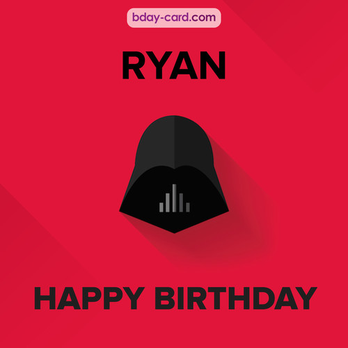 Happy Birthday pictures for Ryan with Darth Vader