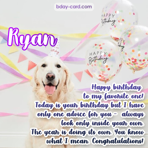 Happy Birthday pics for Ryan with Dog