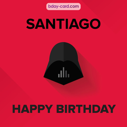 Happy Birthday pictures for Santiago with Darth Vader