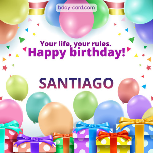 Funny Birthday pictures for Santiago