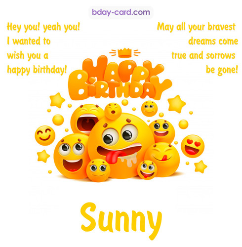 Happy Birthday images for Sunny with Emoticons