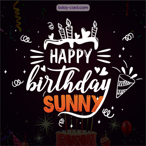 Black Happy Birthday cards for Sunny