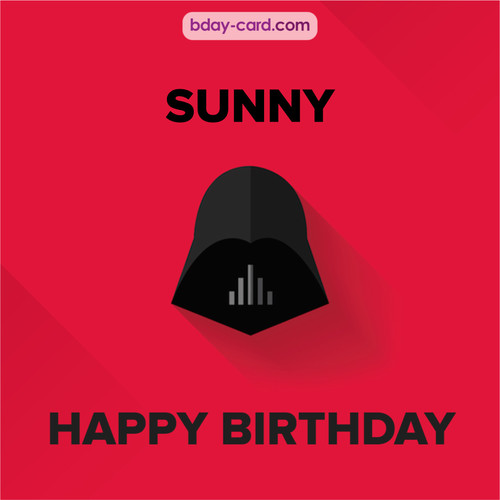 Happy Birthday pictures for Sunny with Darth Vader
