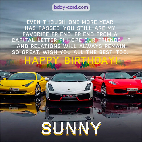 Birthday pics for Sunny with Sports cars