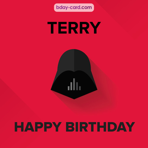 Happy Birthday pictures for Terry with Darth Vader