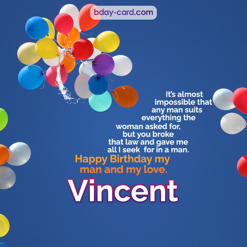 Birthday images for Vincent with Balls