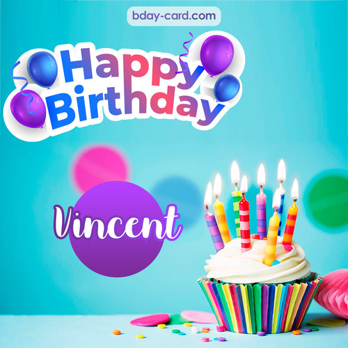 Birthday photos for Vincent with Cupcake