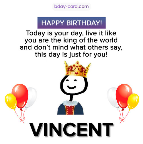 Happy Birthday Meme for Vincent