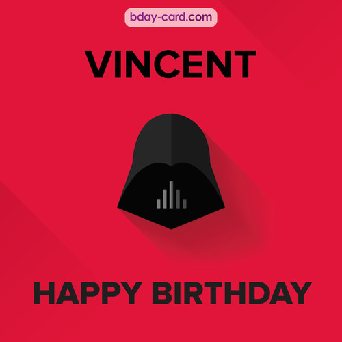 Happy Birthday pictures for Vincent with Darth Vader