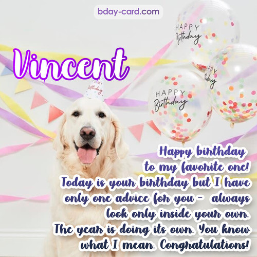 Happy Birthday pics for Vincent with Dog