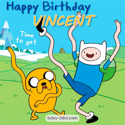 Birthday images for Vincent of Adventure time