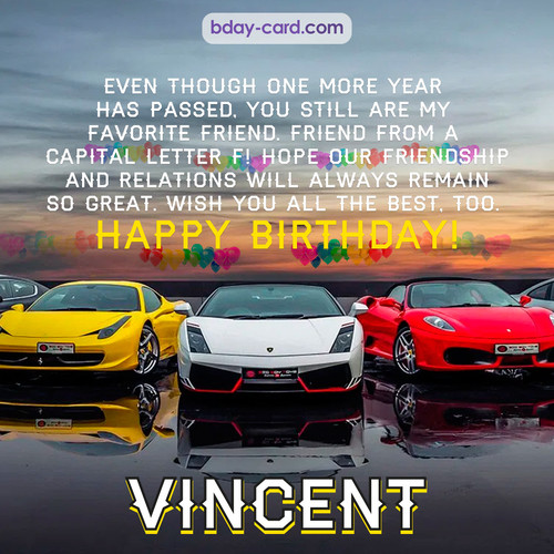 Birthday pics for Vincent with Sports cars