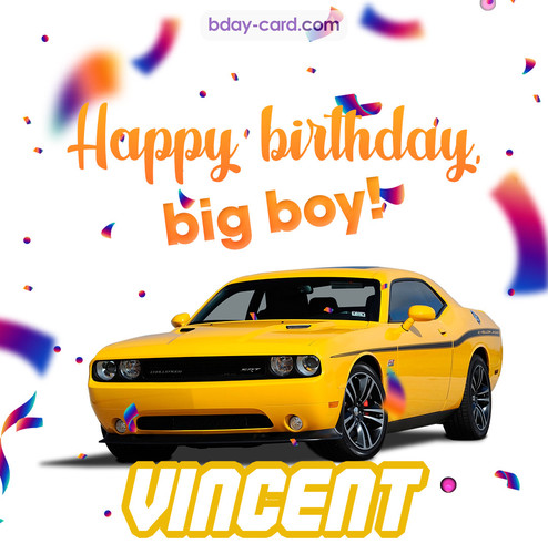 Happiest birthday for Vincent with Dodge Charger