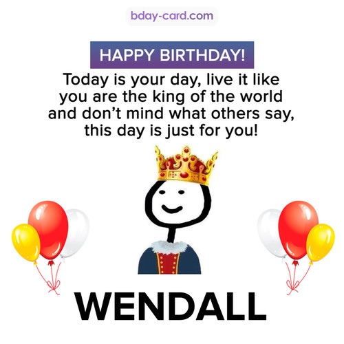 Happy Birthday Meme for Wendall