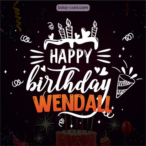 Black Happy Birthday cards for Wendall