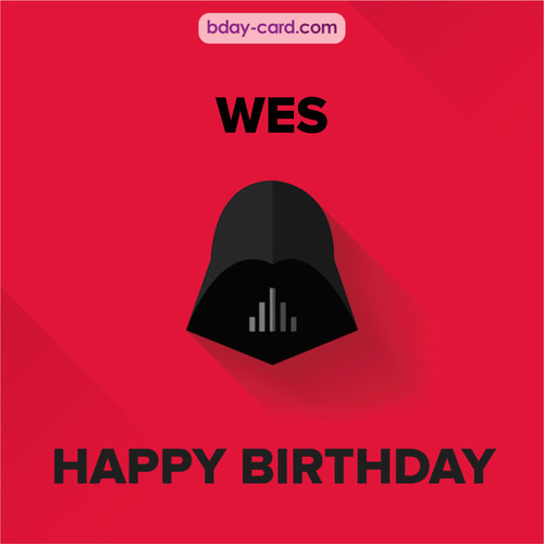 Happy Birthday pictures for Wes with Darth Vader