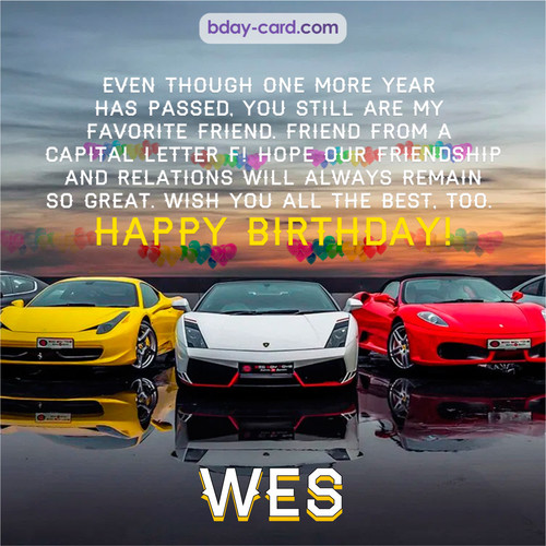 Birthday pics for Wes with Sports cars