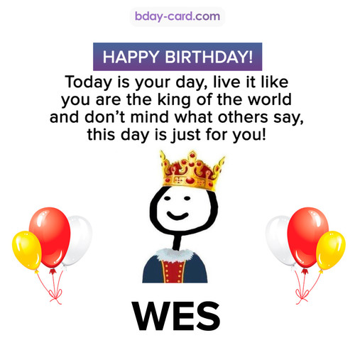 Happy Birthday Meme for Wes