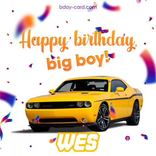 Happiest birthday for Wes with Dodge Charger