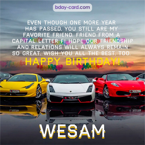Birthday pics for Wesam with Sports cars
