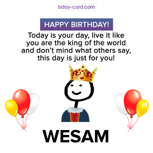 Happy Birthday Meme for Wesam