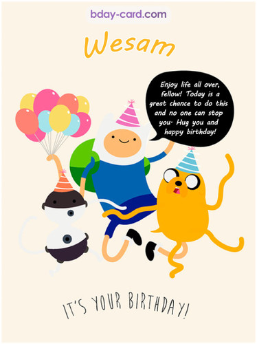 Beautiful Happy Birthday images for Wesam