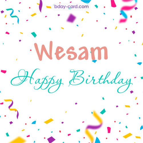 Greetings pics for Wesam with sweets