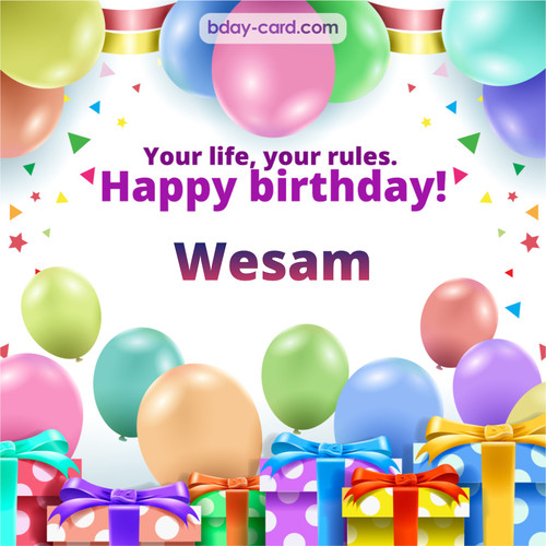 Greetings pics for Wesam with Balloons