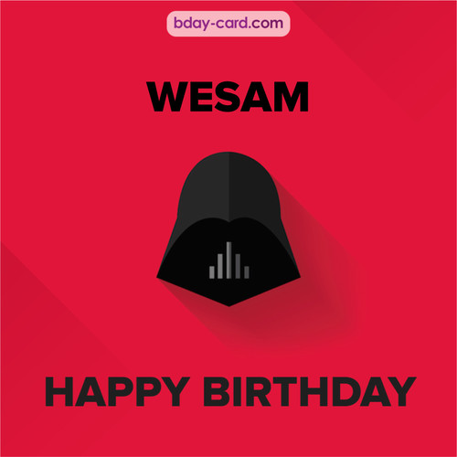 Happy Birthday pictures for Wesam with Darth Vader