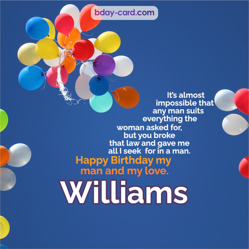 Birthday images for Williams with Balls