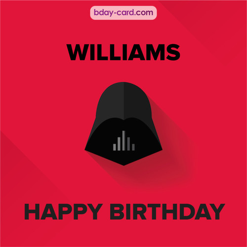 Happy Birthday pictures for Williams with Darth Vader