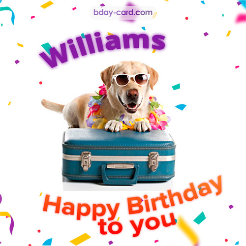 Funny Birthday pictures for Williams